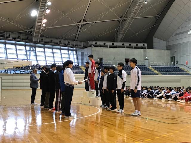 令和元年11月県新人大会男子団体6位入賞 男子の入賞は久しぶりです